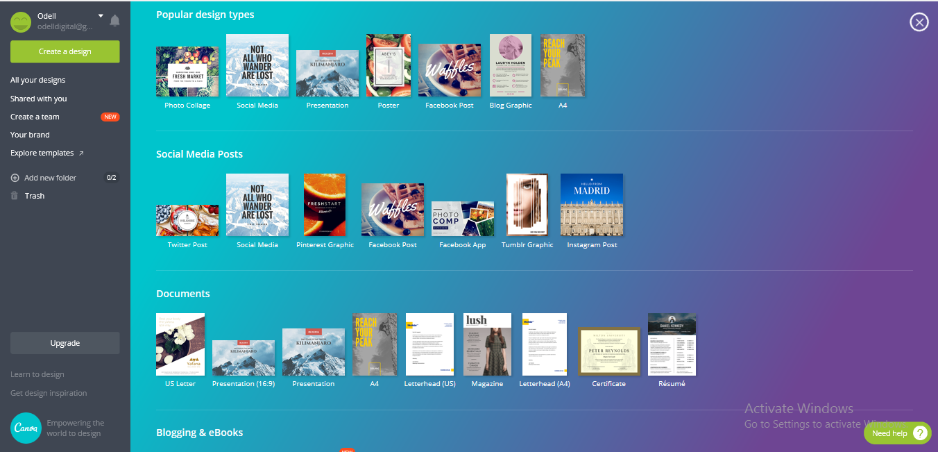 Canva More Options