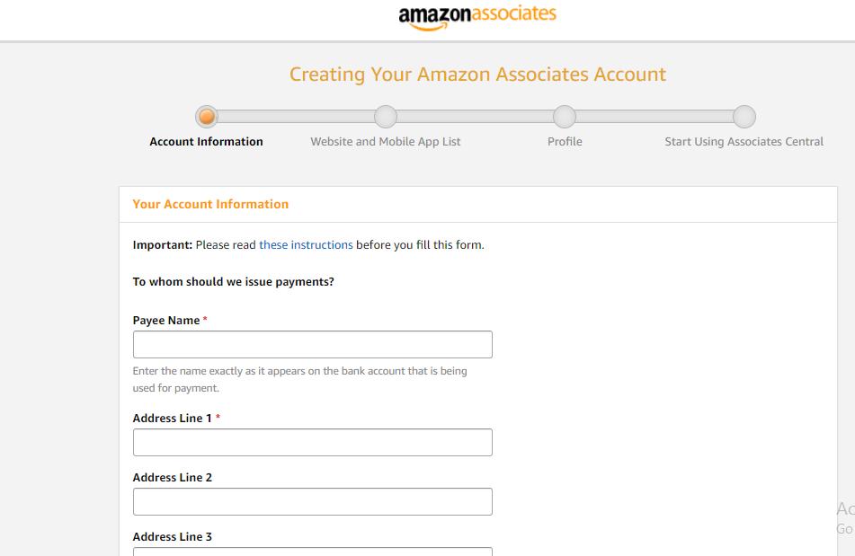 Amazon Affiliate Set Up