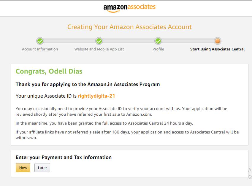 Amazon Affiliate Rightly Digital