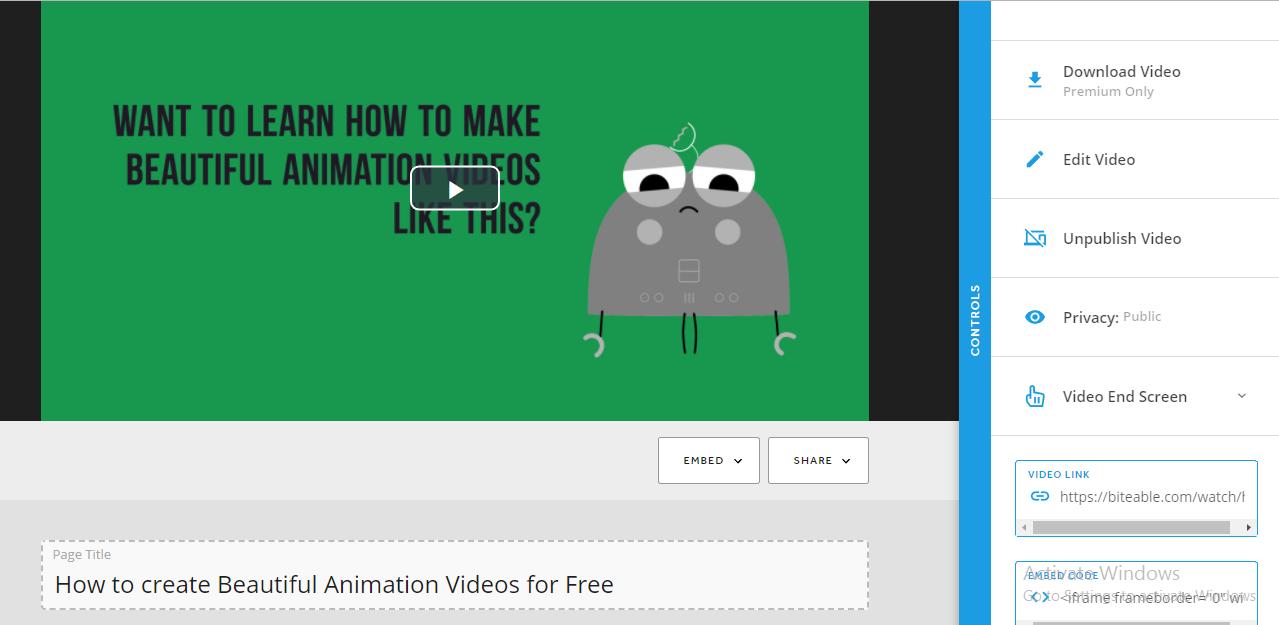 Publish the Video