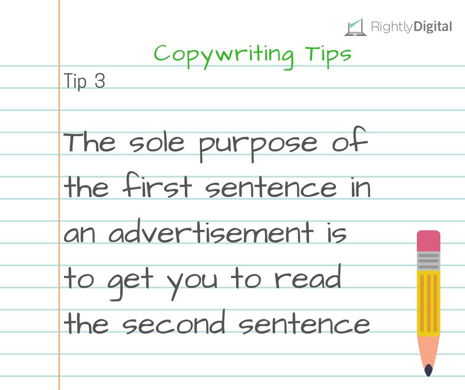 Copywriting Tip 3